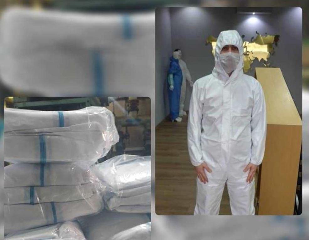اهدای 400 عدد لباس ایزوله ویژه کرونا به بیمارستان لامرد