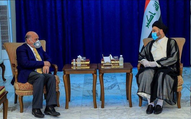 ملاقات عمار حکیم با فواد حسین و تأکید بر گسترش روابط عراق با سایر کشورها