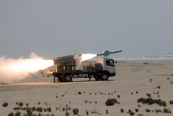 آزمایش موشکی ارتش ایران در شمال اقیانوس هند