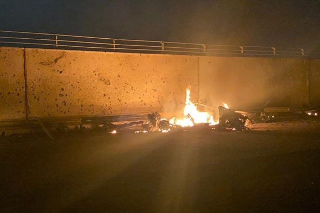 خبرنگاران اصابت موشک به حوالی فرودگاه بین المللی بغداد