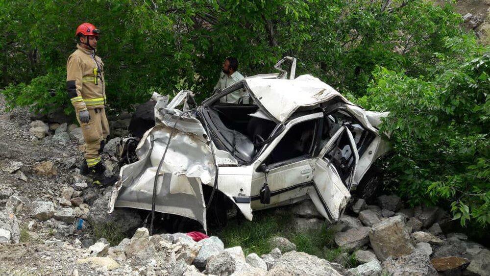 چهار کشته و دو زخمی در پی سقوط پراید از روی پُل در گلباف کرمان