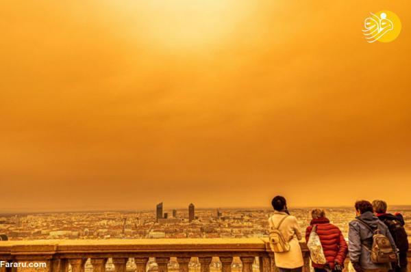 (تصاویر) آسمان اروپا نارنجی شد!