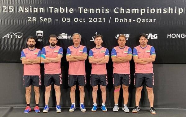 نتیجه تاریخی تیم ملی تنیس روی میز در قهرمانی آسیا، ایران پنجم شد
